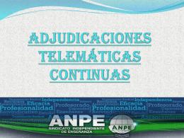 Adjudicaciones continuas - ANPE Comunidad Valenciana