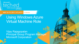COS302: Using Windows Azure Virtual Machine Role