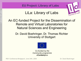 EU Proposal: Library of Labs