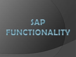 SAP functionality - 123seminarsonly.com