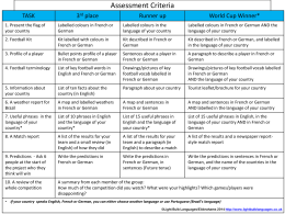 Assessment Criteria - Light Bulb Languages