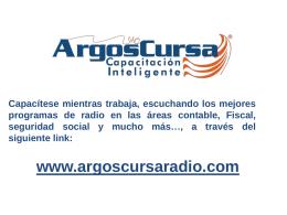 Diapositiva 1 - ArgosCursaRadio