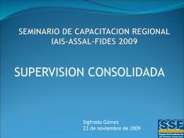 SEMINARIO DE CAPACITACION REGIONAL IAIS