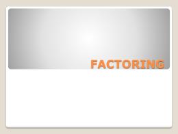 FACTORING - lucciolatrajtman