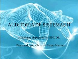 AUDITORIA DE SISTEMAS II
