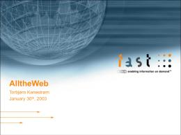 FAST's AlltheWeb Q&A Session - SLA