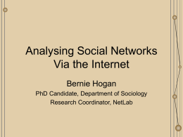 Analysing Social Networks Via the Internet
