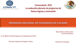 Diapositiva 1 - Sistema de Consultas PNPC