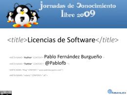 Licencias de Software - Propiedad intelectual y Nuevas