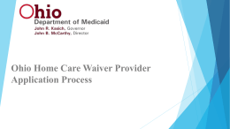 Ohio Provider Enrollment Application