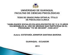 UNIVERSDAD DE GUAYAQUIL FACULTAD DE CIENCIAS …