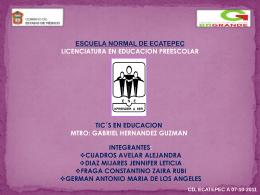 Diapositiva 1 - TIC EN EDUCACION