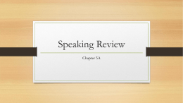 Speaking Review