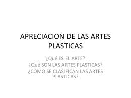 APRECIACION DE LAS ARTES PLASTICAS