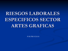 RIESGOS LABORALES ESPECIFICOS SECTOR ARTES …
