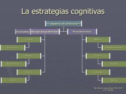 La estrategias cognitivas de las ciencias y las de la artes