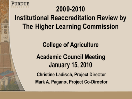 Agriculture Academic Council