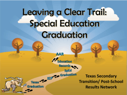 Leaving a Clear Trail:Special