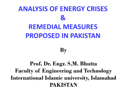 ENERGY CRISES & REMEDIAL MEASURES