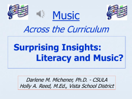 Surprising Insights: Literacy and Music?""