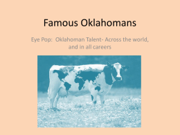 Famous Oklahomans - Tulsa Public Schools
