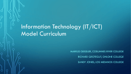 Information and communication technologies (ICT) …