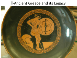 Ancian Greece and its Legacy - Fairfield