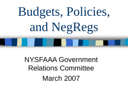 Budgets Galore! - Welcome | NYSFAAA