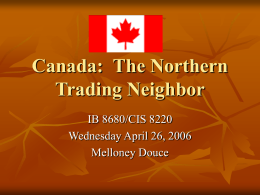 Canada: The Northern Trading Neighbor