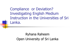 Compliance or Deviation? Investigating English Medium