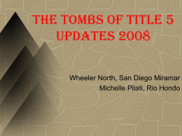 The Tombs of Title 5 Updates 2008