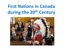 First Nations in Canada during the 20th Century