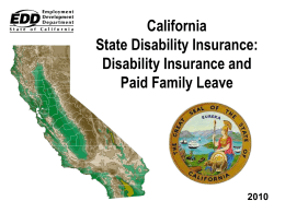 California State Disability Insurance: Disability