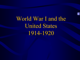 War and the American State 1914-1920