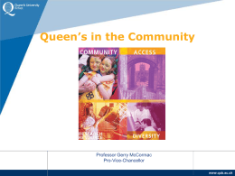 Queen's in the Community - Queen's University Belfast