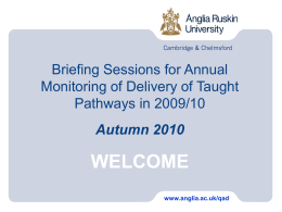2006 Academic Regulations - Anglia Ruskin University