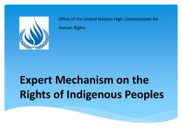 Mecanismo de Expertos sobre los Derechos de los Pueblos