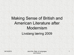 Making Sense of British and American Literature after