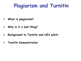 UEA Plagiarism meeting