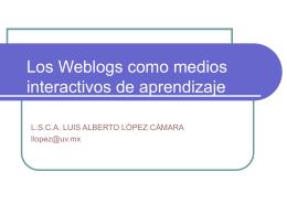 Los Weblogs como medios interactivos de aprendizaje