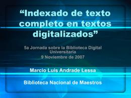 Jornadas de Bibliotecas Digitales