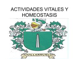 ACTIVIDADES VITALES Y HOMEOSTASIS