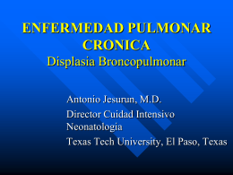 CHRONIC LUNG INJURY BRONCHO PULMONARY …