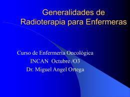 Generalidades de Radioterapia