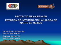 PROYECTO MEX-AREOHAB ESTACION DE INVESTIGACION …