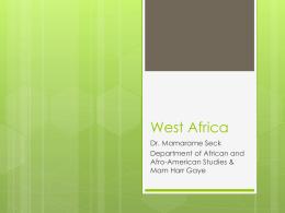 West Africa - UNC CGI | Home