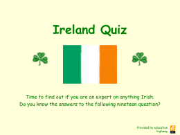Ireland Quiz - EduGroup.at
