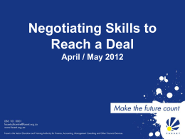 Negotiating Skills Presentation