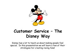 Customer Service- The Disney Way