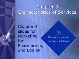 Chapter 3 - Characteristics of Services